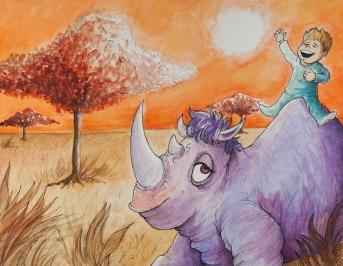 I prefer to take the purple rhinoceros.